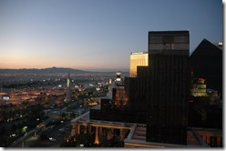 The view from my hotel room and my first view of the strip.