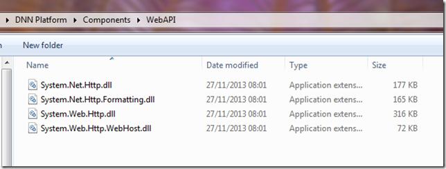 WebAPI dlls