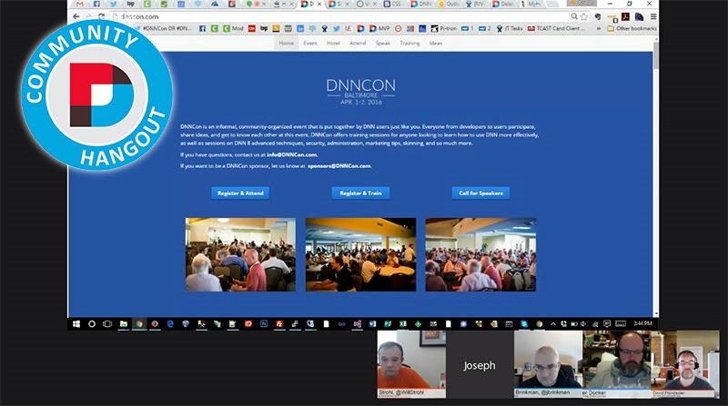 DNN Hangout February 2016